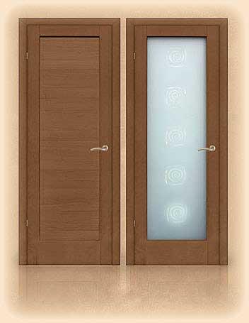 межкомнатная дверь глухая и остекленная