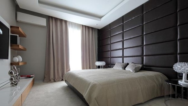 мягкие панели для стен спальни 2