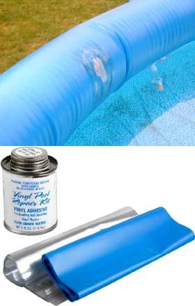 надувной бассейн ремонт