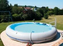 надувной бассейн слив воды