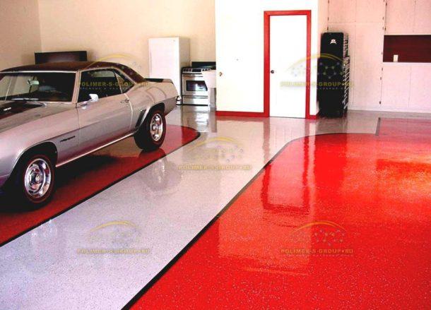 цементно-акриловый пол в гараже