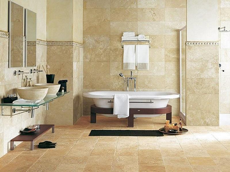 натуральный камень для отделки пола в ванной
