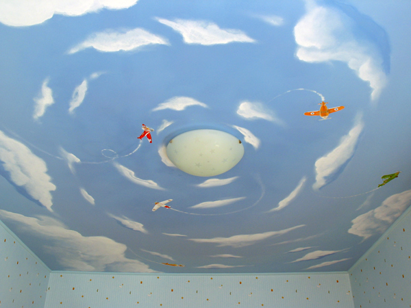 натяжной потолок в детской 4