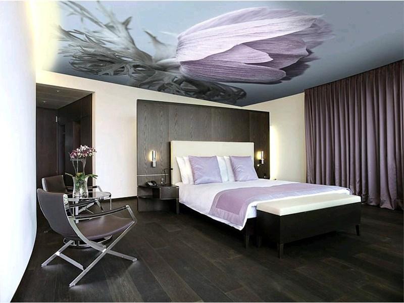 натяжные потолки в спальне 2