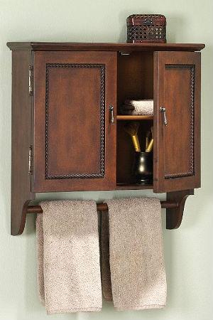 навесной шкаф в ванную дерево