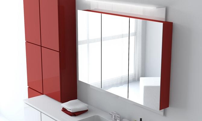 навесной шкаф в ванную комнату зеркальный
