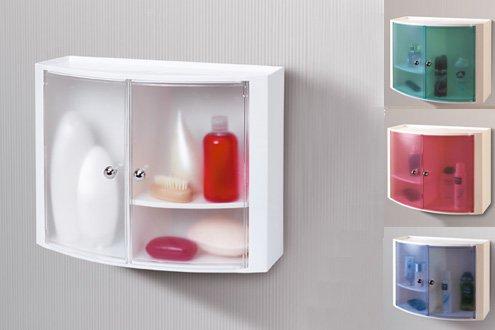навесной шкаф в ванную пластик