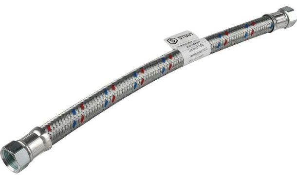Армированный гибкий шланг хорошего качества длиной 1 метр