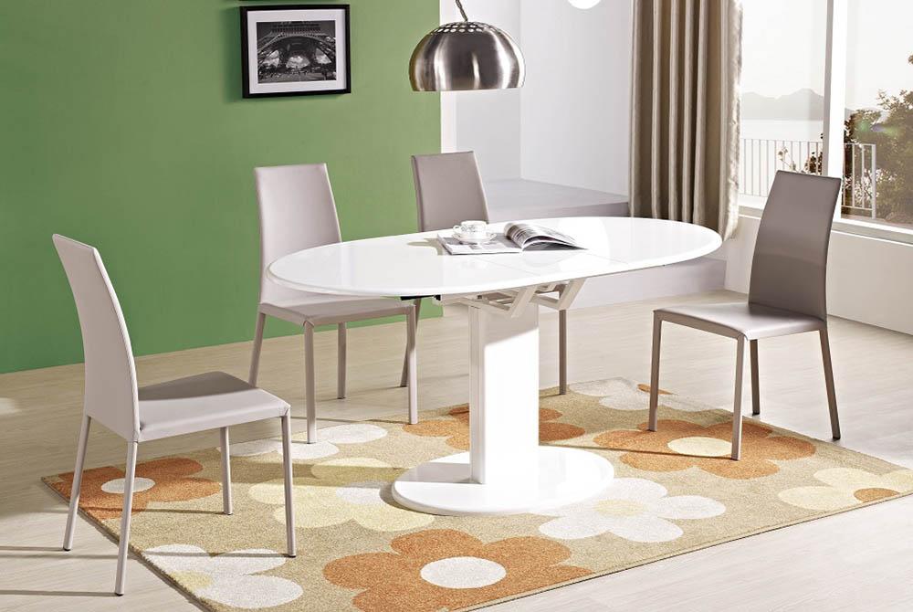 обеденный стол на одной опоре