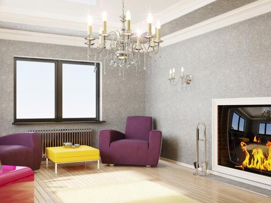 обои для гостиной и мебель 2