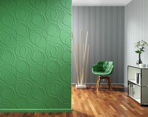 обои под покраску зеленые