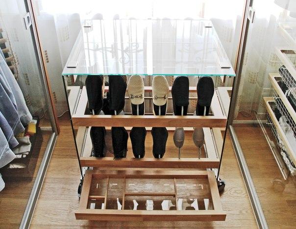 обувница стеклянная