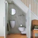 оформление пространства под лестницей 10