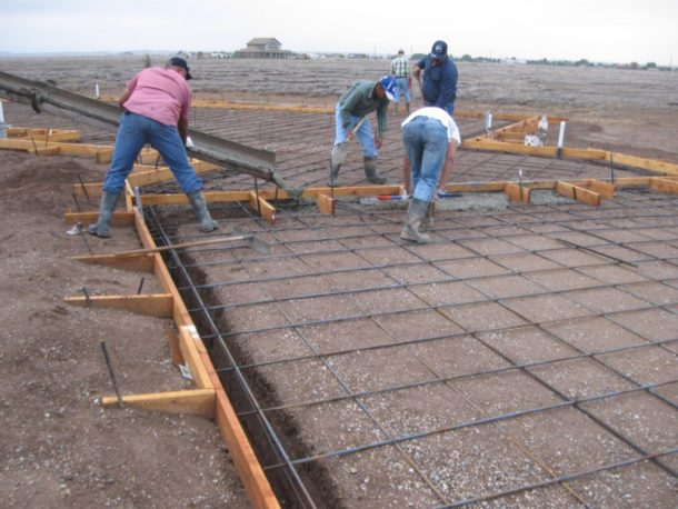 опалубка под фундамент и бетонный пол