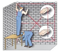 определение вертикальности стен 2