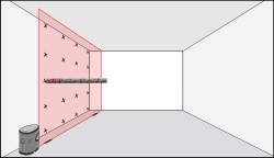 определение вертикальности стен