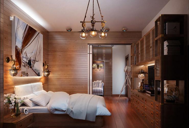 основное освещение спальни 2