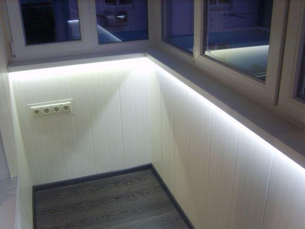освещение балкона 110