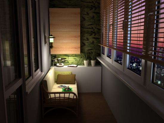 освещение балкона 13