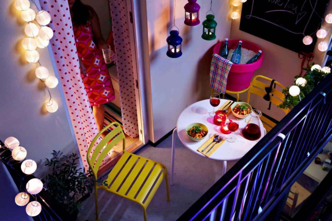 освещение балкона 14