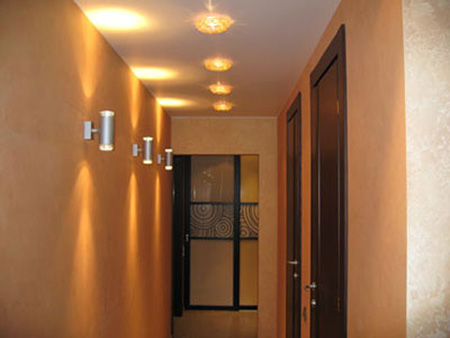 освещение коридора основной свет 2