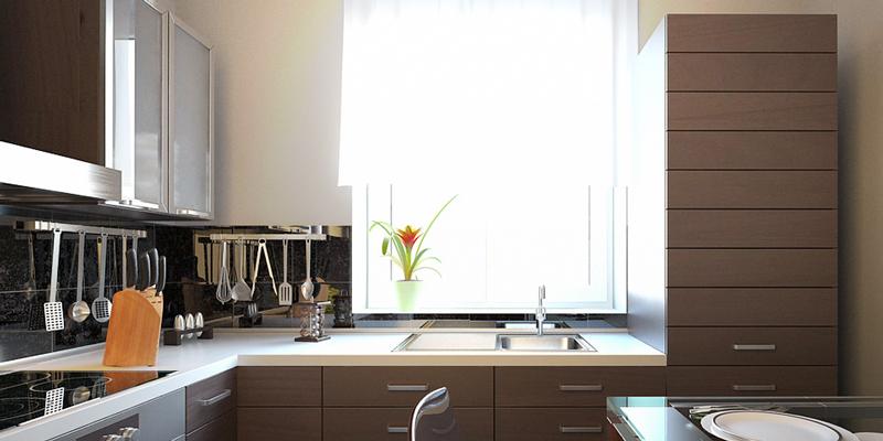освещение кухни естественное