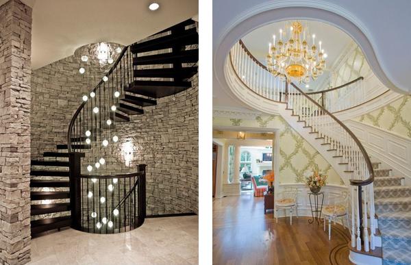освещение лестницы потолочное