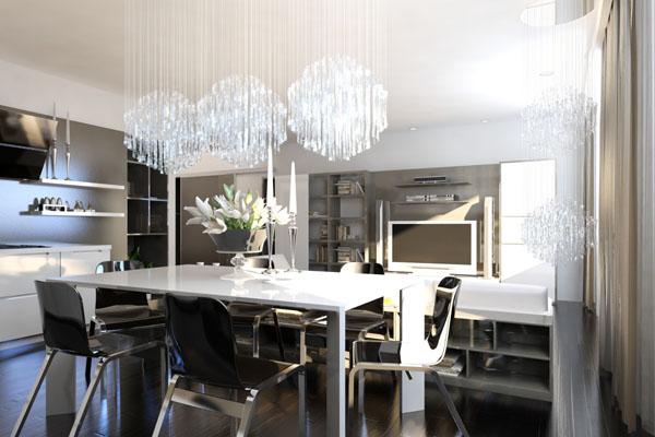 освещение обеденной зоны кухни 5
