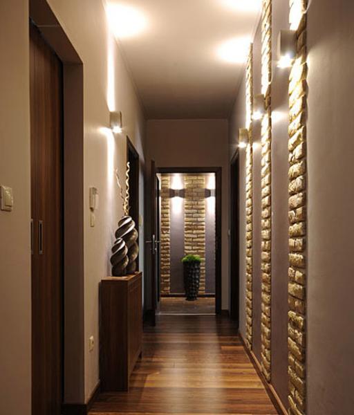освещение узкого коридора