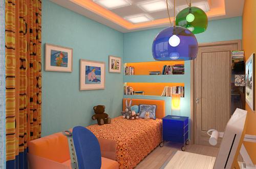 освещение в детской около кровати 2