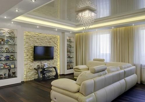 освещение в гостиной 2