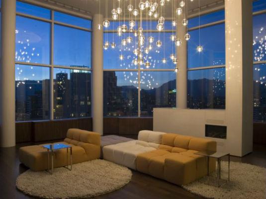 освещение в гостиной 3