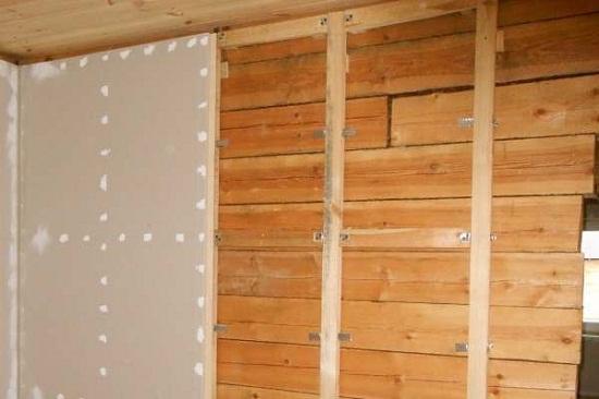 Внутренняя отделка деревянных стен