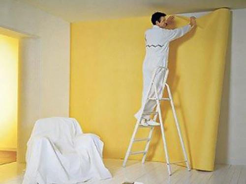 отделка стен тканью 6