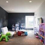 отделка стен в детской грифельной краской 2