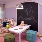 отделка стен в детской грифельной краской 3