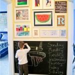 отделка стен в детской грифельной краской 4