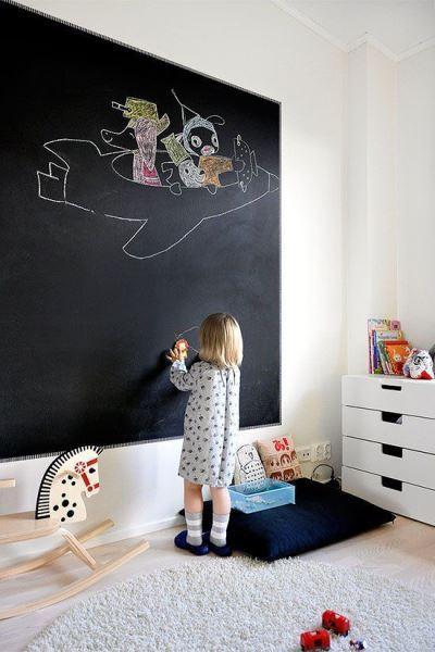 отделка стен в детской грифельной краской 5