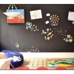 отделка стен в детской магнитной краской 2