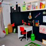 отделка стен в детской магнитной краской 3
