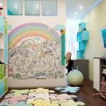 отделка стен в детской обоями 7
