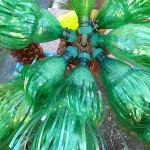 пальма из пластиковых бутылок на дачу  6