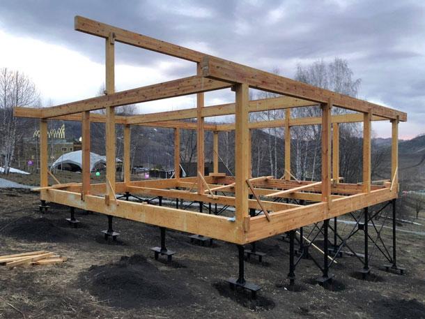 Первые готовые конструкции в реализации проекта