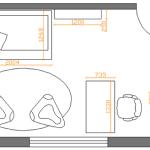 план размещения мебели в детской 2