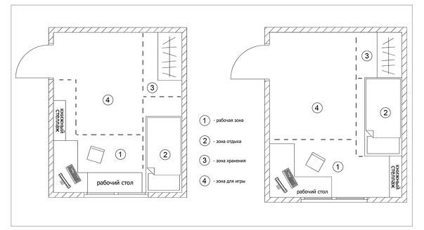 план размещения мебели в детской 4