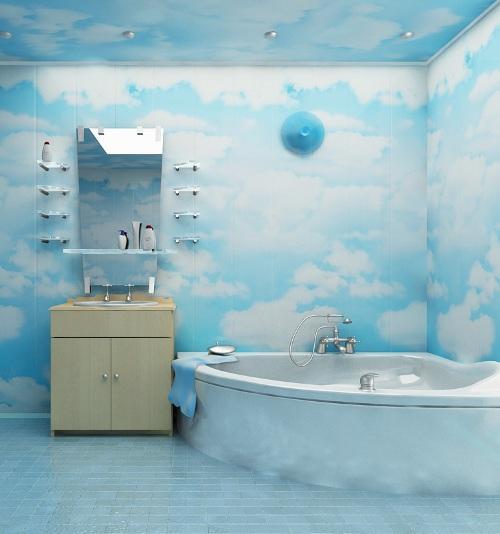 пластиковые панели для отделки стен ванной комнаты