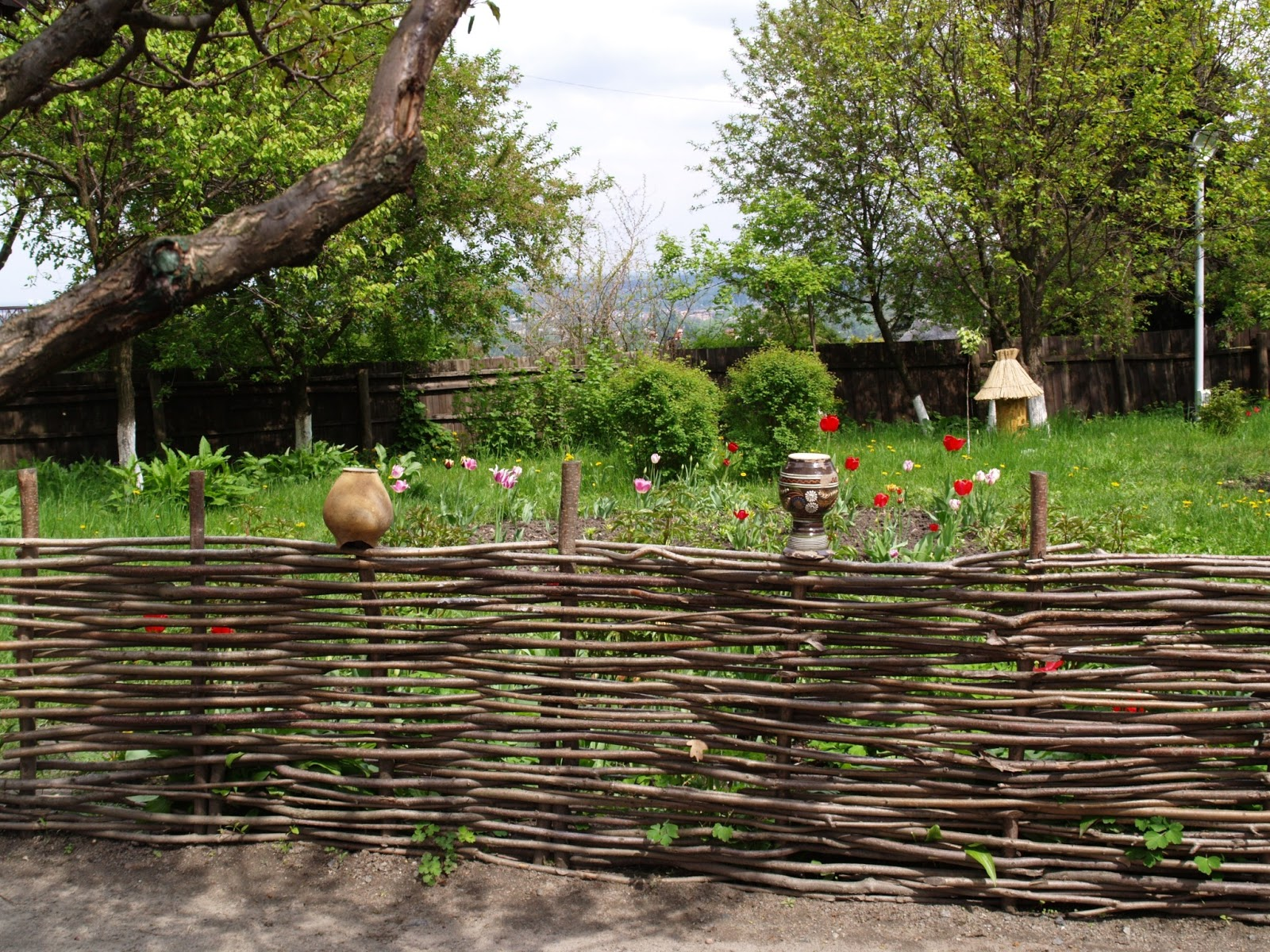плетеный забор для участка