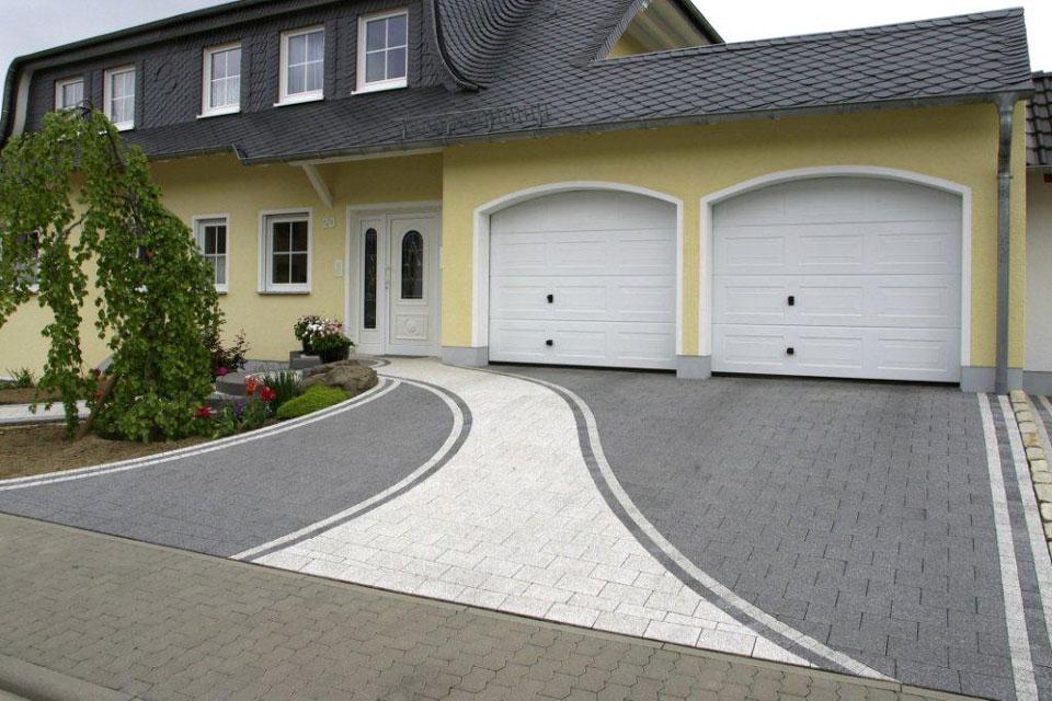 бетон перед гаражом