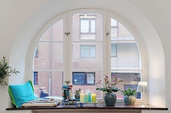 подоконники в интерьере квартиры 4