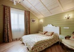 покраска деревянных стен 3